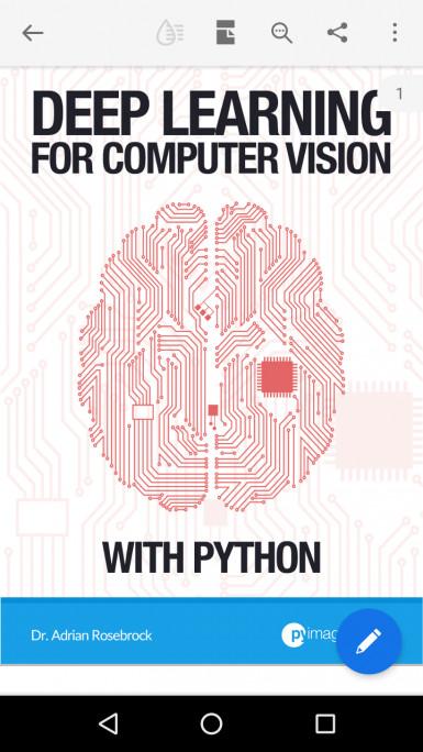 بدأت قراءة deep learning for computer vision with python